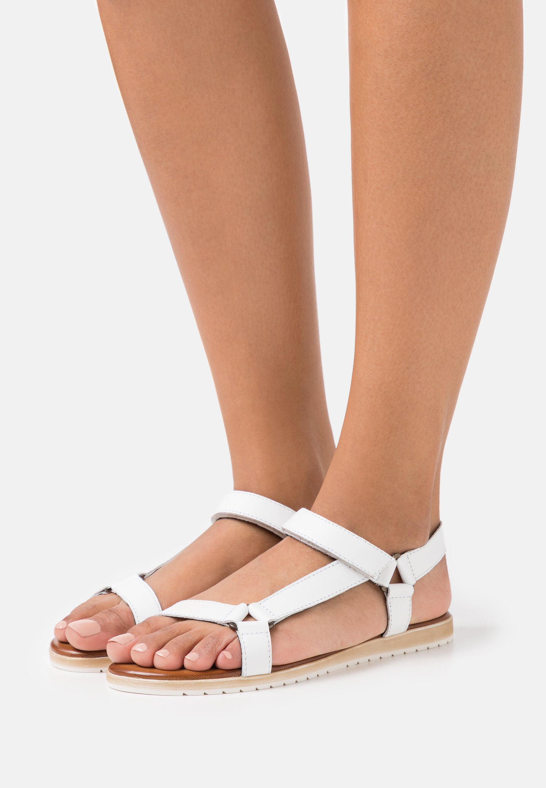 Women LEATHER - Sandals - white