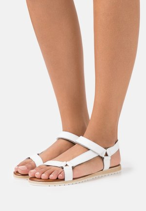 LEATHER - Sandals - white