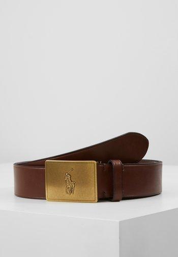 PLAQUE BELT - Belt - brown