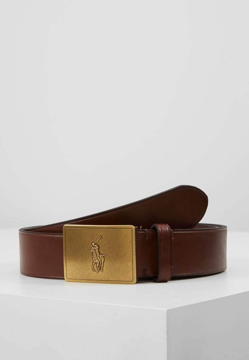 Polo Ralph Lauren - PLAQUE BELT - Pásek - brown