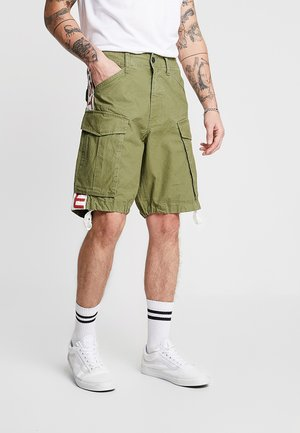 ROVIC MOTO LOOSE FIT - Cargo trousers - sage