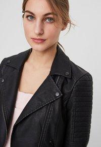 Noisy May - Faux leather jacket - black - 2