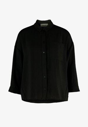 ALEXIS - Button-down blouse - black