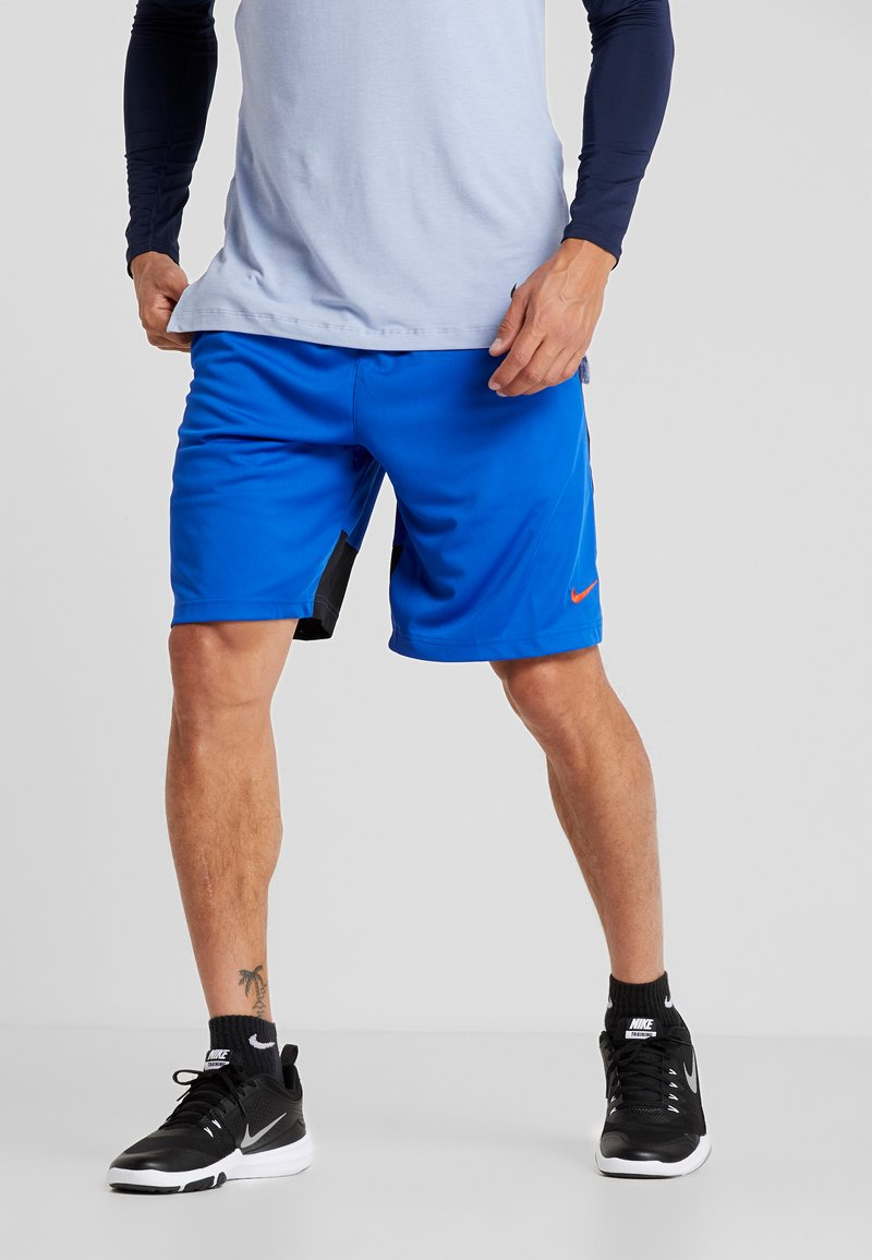 Nike Performance - DRY SHORT HYBRID - Sports shorts - game royal/black/habanero red