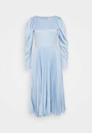 PLEATED DRESS - Day dress - navy