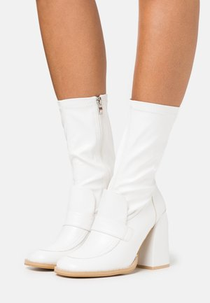 VEGAN  - High heeled boots - white
