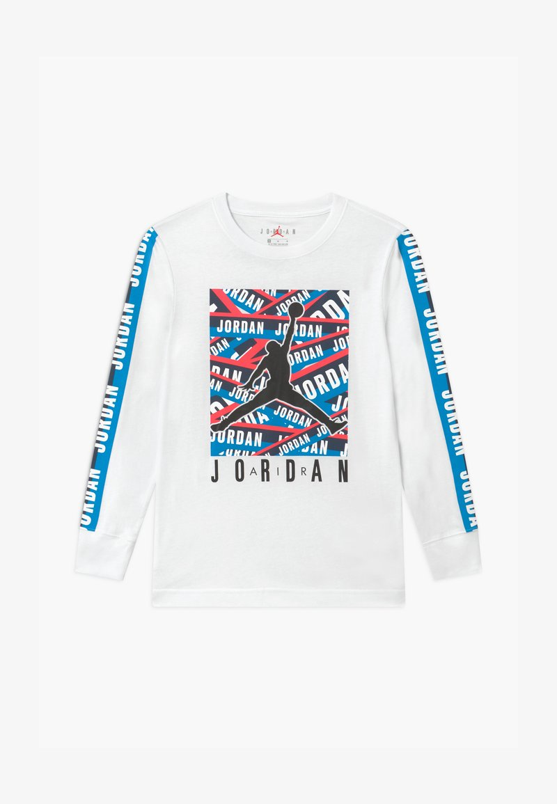Jordan - TAPED UP - Top s dlouhým rukávem - white