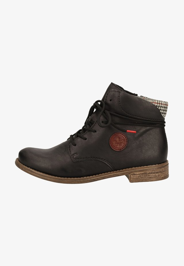 Ankle boots - schwarz/grau-rost/wine