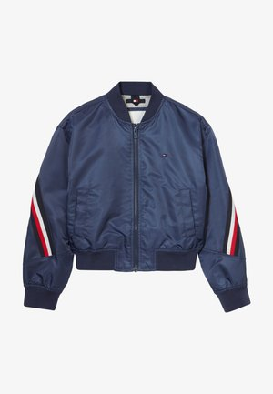 GLOBAL STRIPE TAPED - Chaquetas bomber - blue
