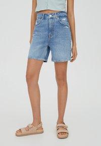 PULL&BEAR - Shorts di jeans - blue - 0