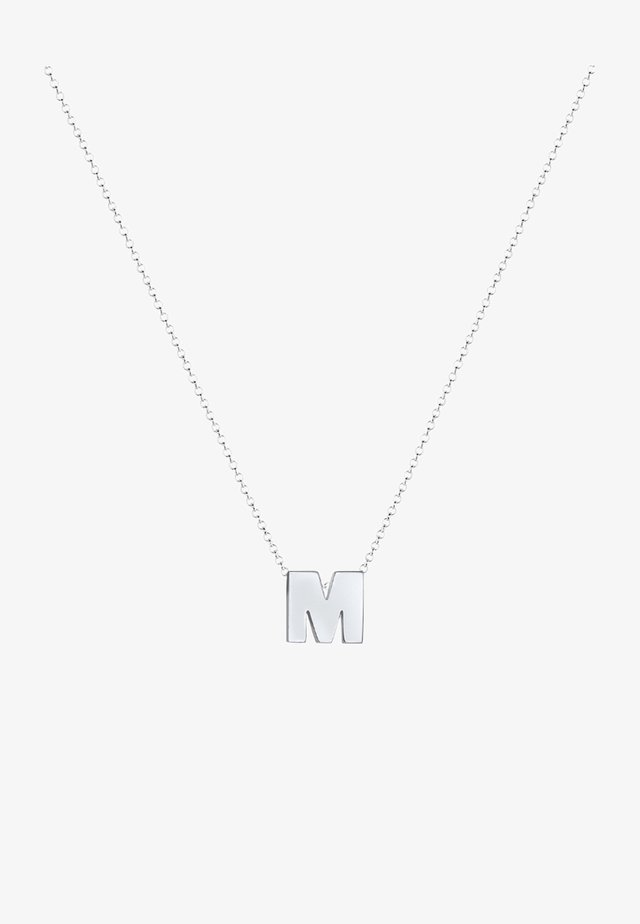 BUCHSTABE M INITIALEN  - Ketting - silver-coloured