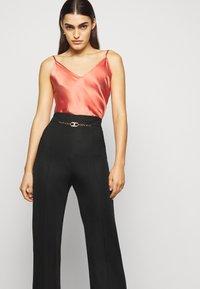 Elisabetta Franchi - WOMEN'S PANT'S - Trousers - black - 3