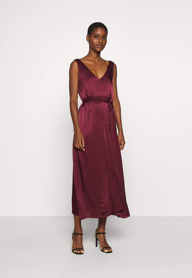 SRSHANIA MIDI DRESS - Galajurk - tawny port