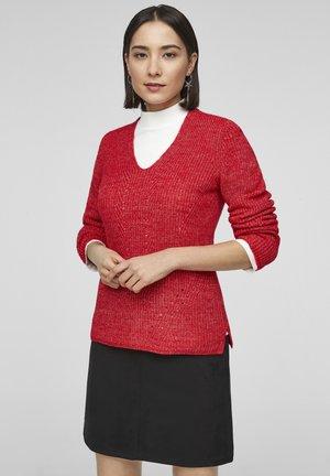 Jumper - red knit