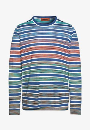 LONG SLEEVE CREW NECK - Strickpullover - blue/multi-coloured
