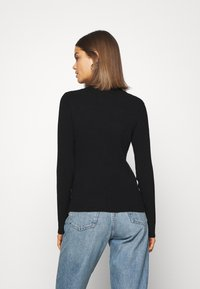 Pieces - PCBASSY O NECK - Sweter - black - 2