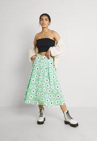Monki - SIGRID BUTTON SKIRT - A-line skirt - green light - 1