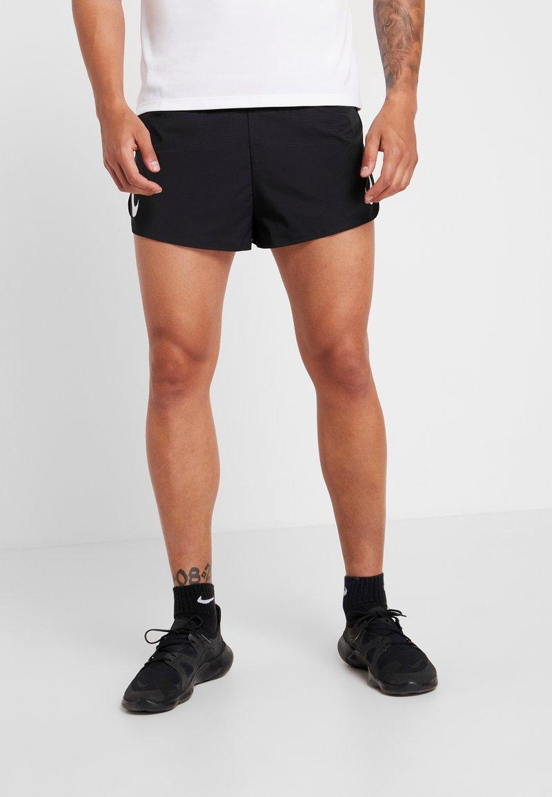 Nike Performance - AEROSWIFT SHORT - Träningsshorts - black/white