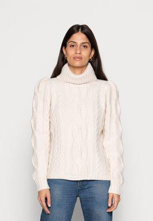 VVERA EXTREME SLEEVE CABLE SWEATER - Džemperis - white