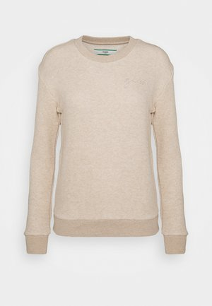 Pyjamasoverdel - light brown melange
