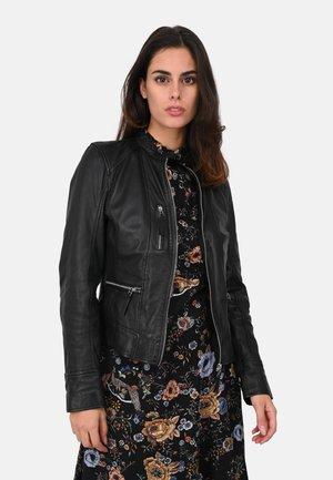 EACH - Leather jacket - black