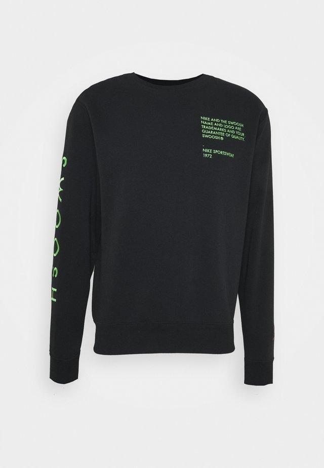 CREW - Sweatshirt - black/green
