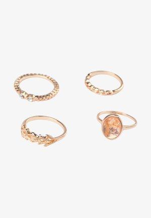 4 PACK - Ring - goldcoloured