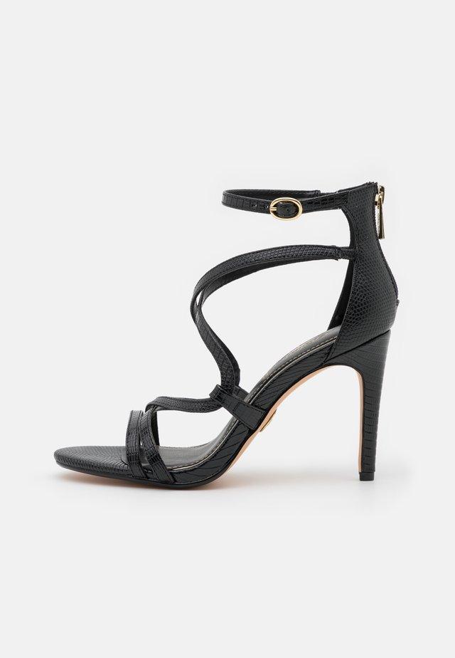 VEGAN MERCY - Sandalen met hoge hak - black