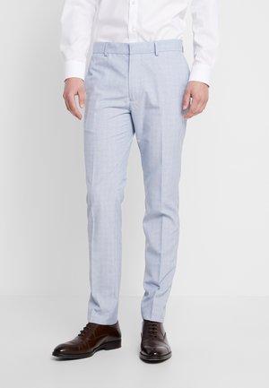 CHECK - Pantaloni eleganti - blue