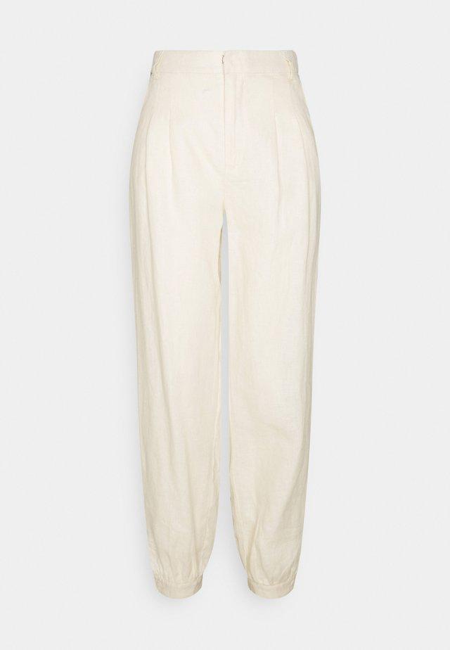 BALLOON LEG PANTS - Stoffhose - beige