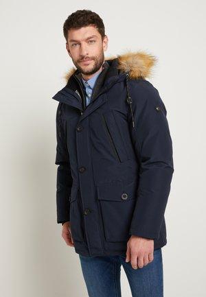 MIT FELLKRAGEN - Winter coat - sky captain blue