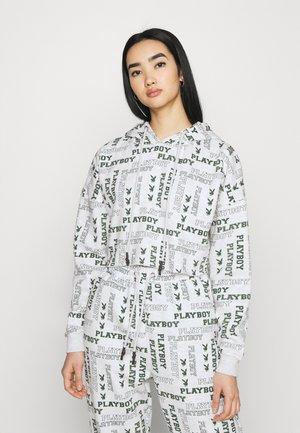 PLAYBOY LOGO CROPPED - Sweatshirt - grey marl