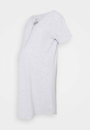NIGHT DRESS LINA NURSING - Yöpaita - light grey melange