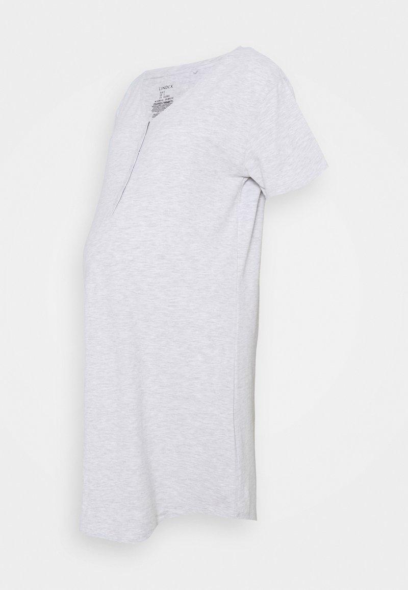Lindex - NIGHT DRESS LINA NURSING - Nightie - light grey melange