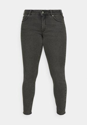 USED LOOK - Jeans Skinny Fit - dark stone black denim