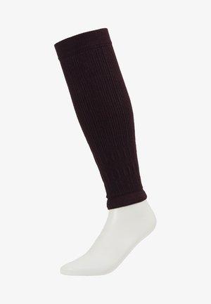 FREE STYLE - Pletené návleky na lýtka - burgundy