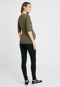 MAMALICIOUS - MLLEA LONG 2 PACK - Leggings - Trousers - black - 3