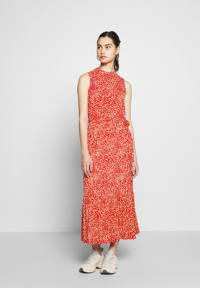 SMOCK MIDI DRESS - Day dress - red