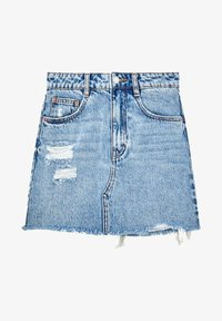 PULL&BEAR - A-line skirt - blue - 5