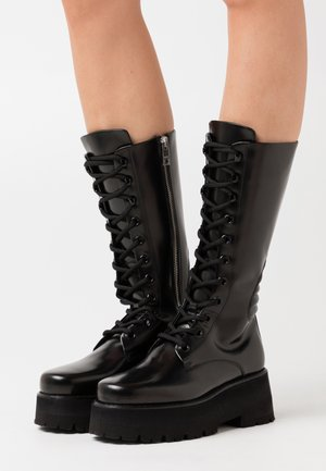 SCARPA DONNA - Platform boots - black