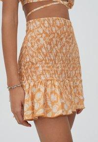 PULL&BEAR - A-line skirt - orange - 4
