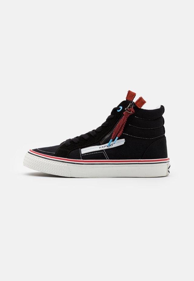 DOUBLE - Sneakers hoog - black