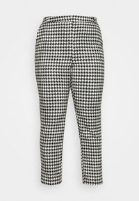 HOUNDSTOOTH TAPERED TROUSERS - Trousers - black/white