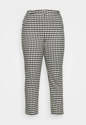 HOUNDSTOOTH TAPERED TROUSERS - Kalhoty - black/white