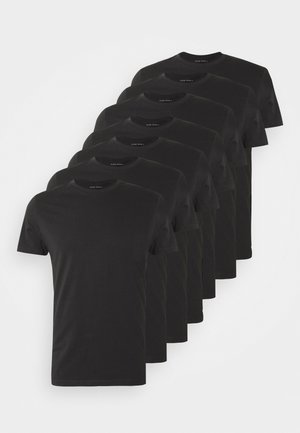 7 PACK - T-shirt - bas - black