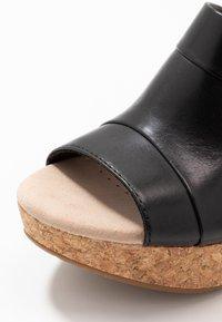 Clarks - ANNADEL  - Platform sandals - black - 2