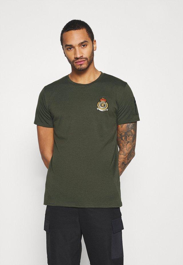FELIX - T-shirt z nadrukiem - khaki
