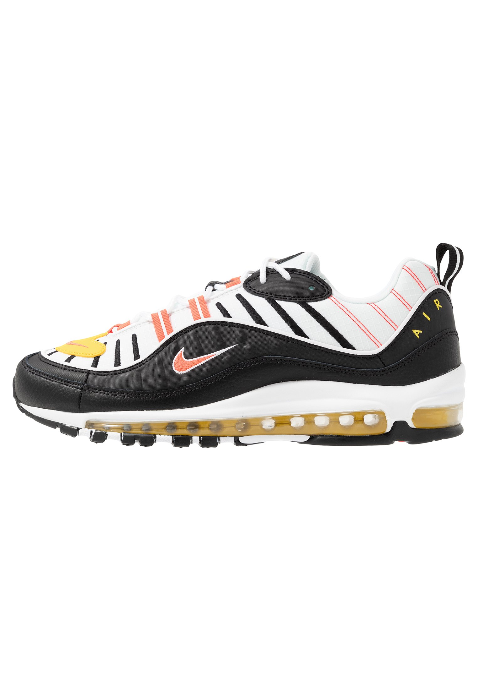 AIR MAX 98 - Sneakers laag - black/brigt crimson/white/chrome yellow