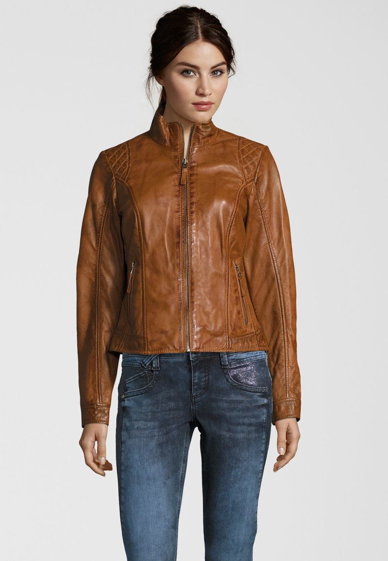 7eleven - Leather jacket - cognac