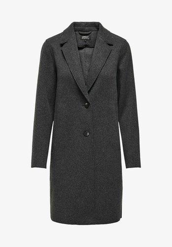 ONLCARRIE BONDED - Classic coat - dark grey melange